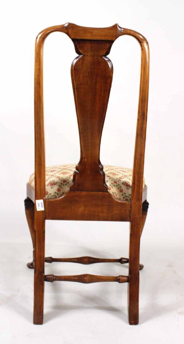 Queen Anne Walnut Side Chair - 6