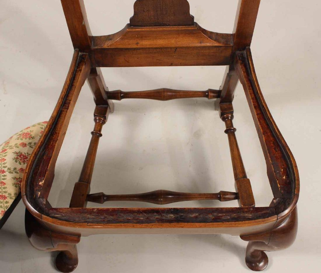 Queen Anne Walnut Side Chair - 7