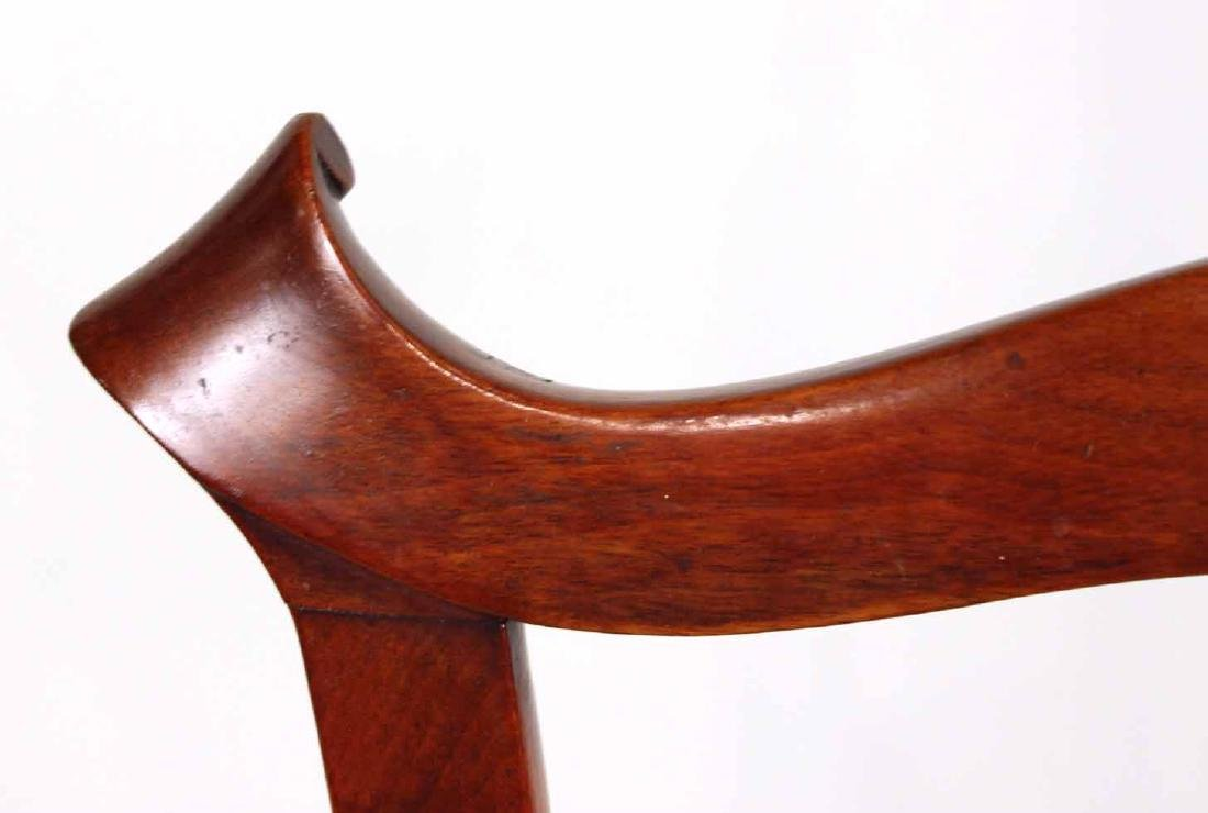 Chippendale Carved Walnut Open Armchair - 8