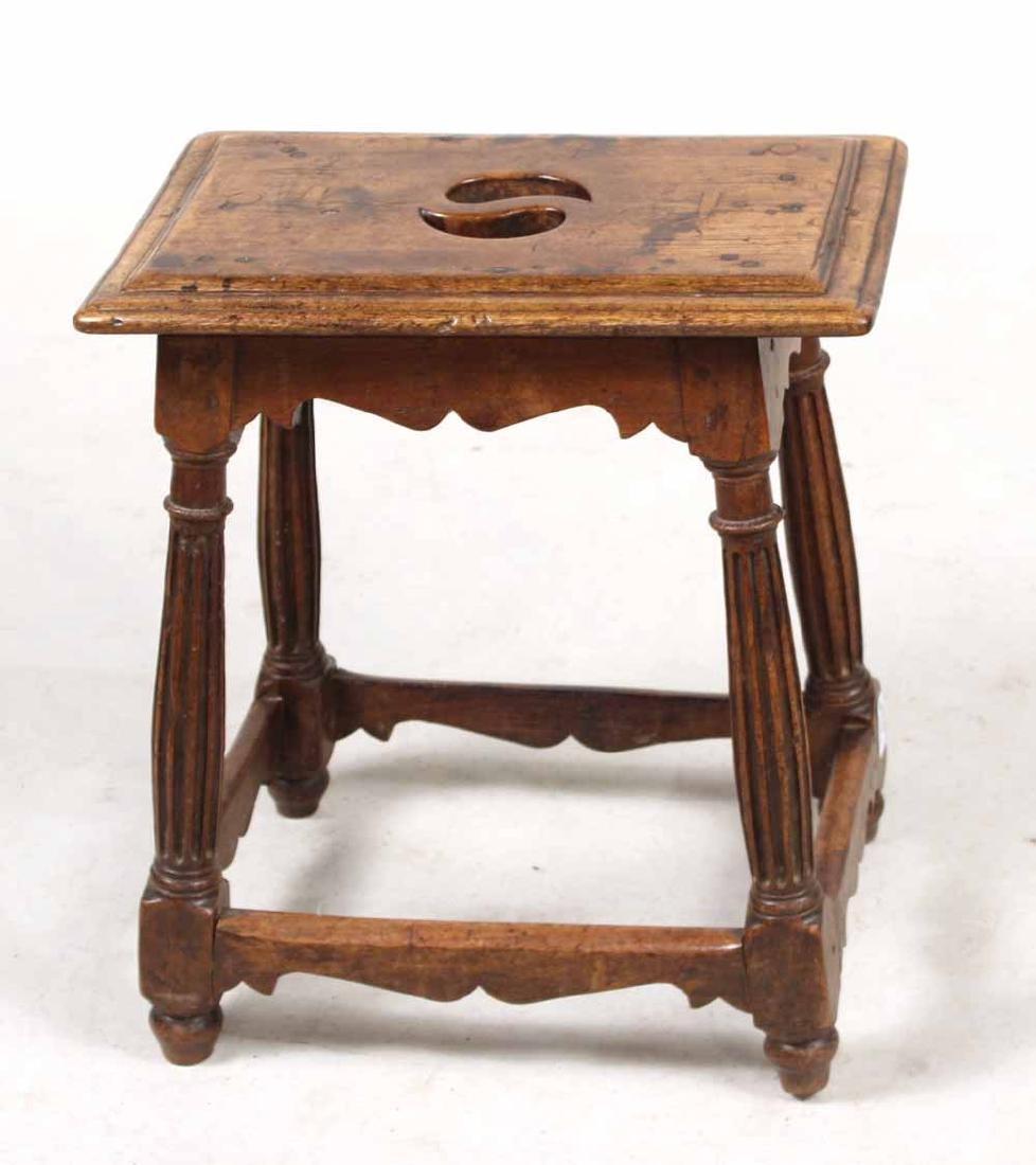 Baroque Style Oak Joint Stool - 2