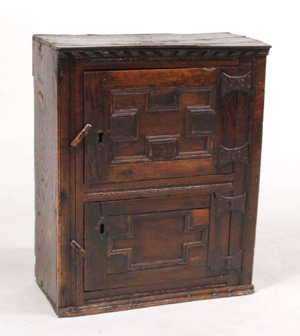 Jacobean Oak Hanging Cupboard