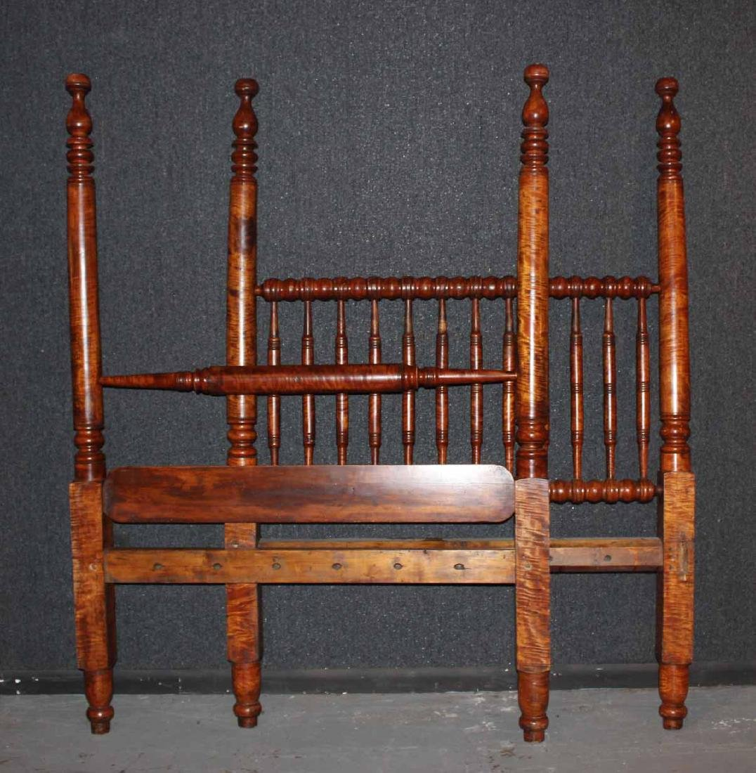 Federal Style Tiger Maple Four Post Bedstead