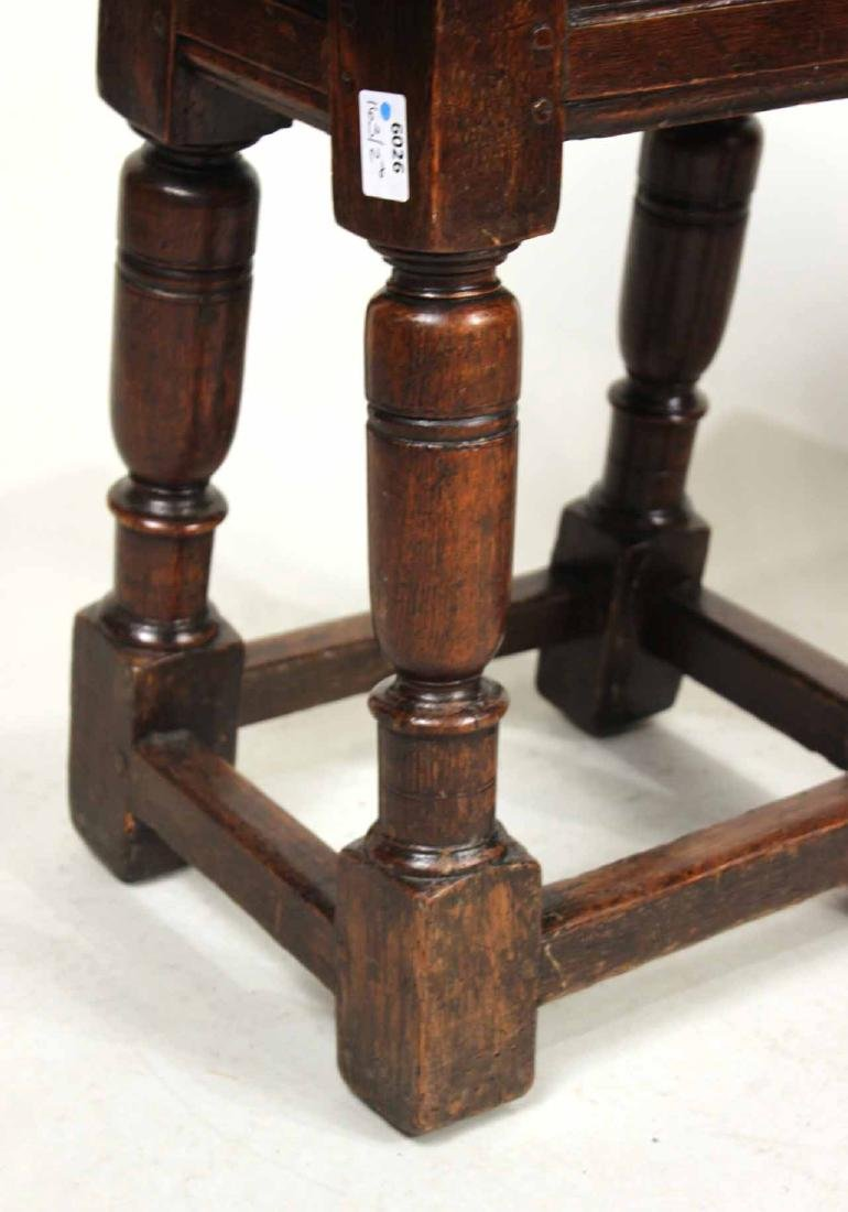Two Jacobean Oak Joint Stools - 3