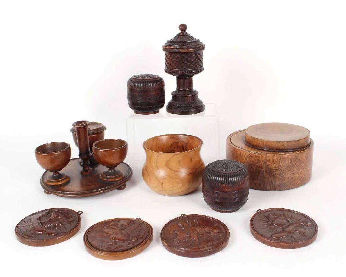 Group of Ten Wood Objects
