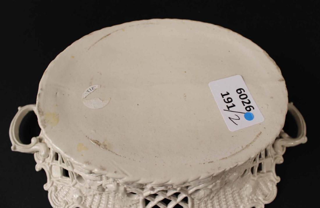 Pair of Staffordshire Salt-Glazed Oval Baskets - 6