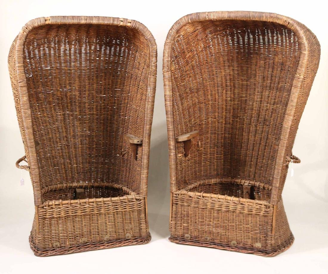 Pair of Wicker Porters Chairs