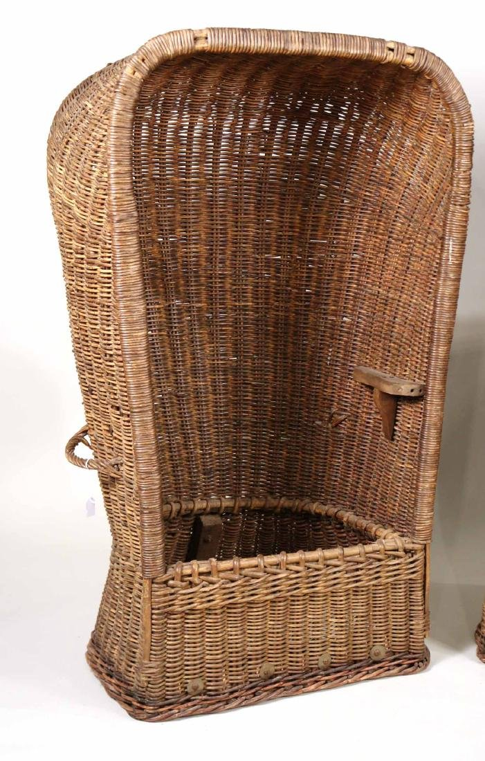 Pair of Wicker Porters Chairs - 2
