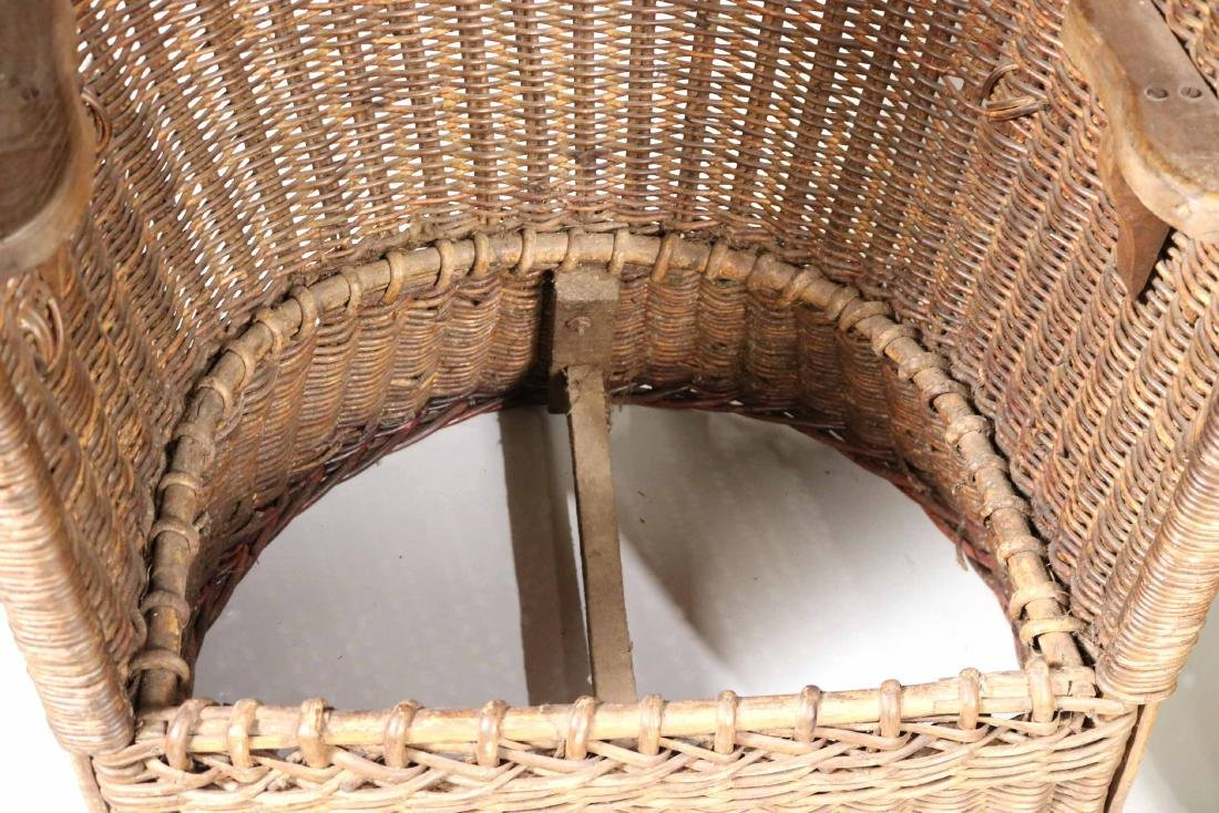 Pair of Wicker Porters Chairs - 4