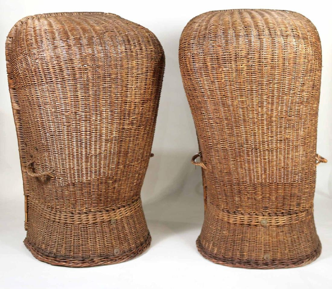 Pair of Wicker Porters Chairs - 8
