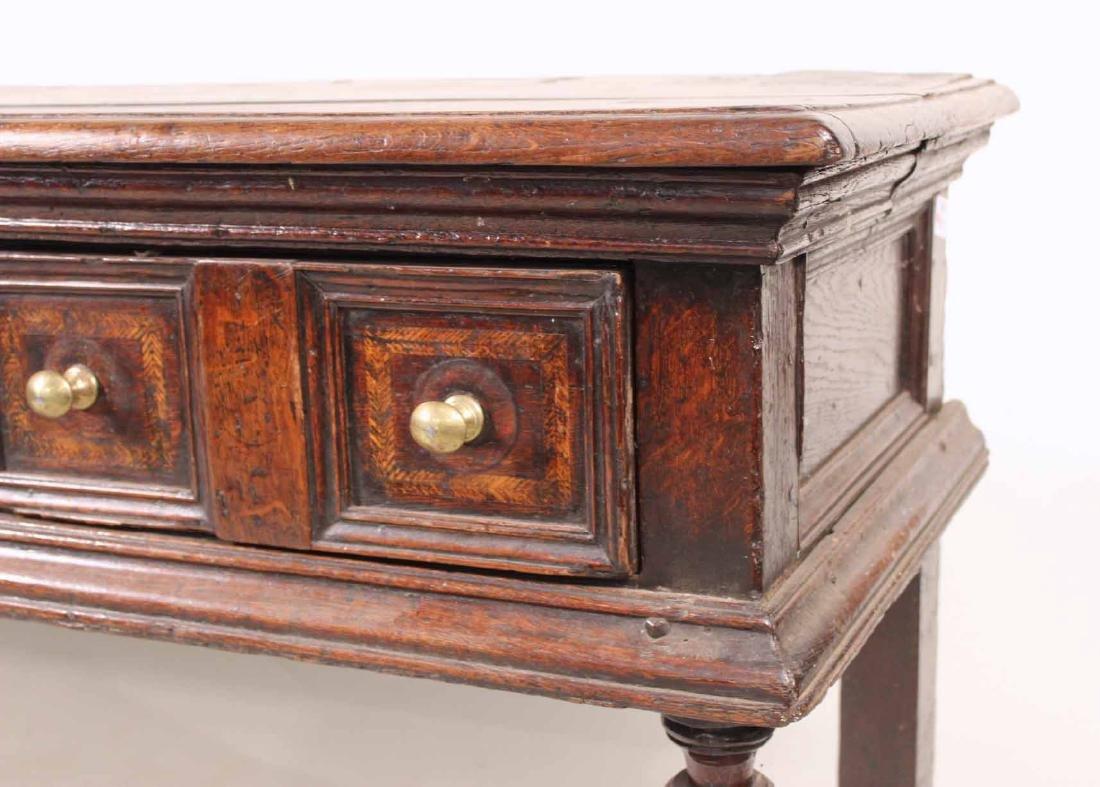 Jacobean Oak Dresser Base - 3