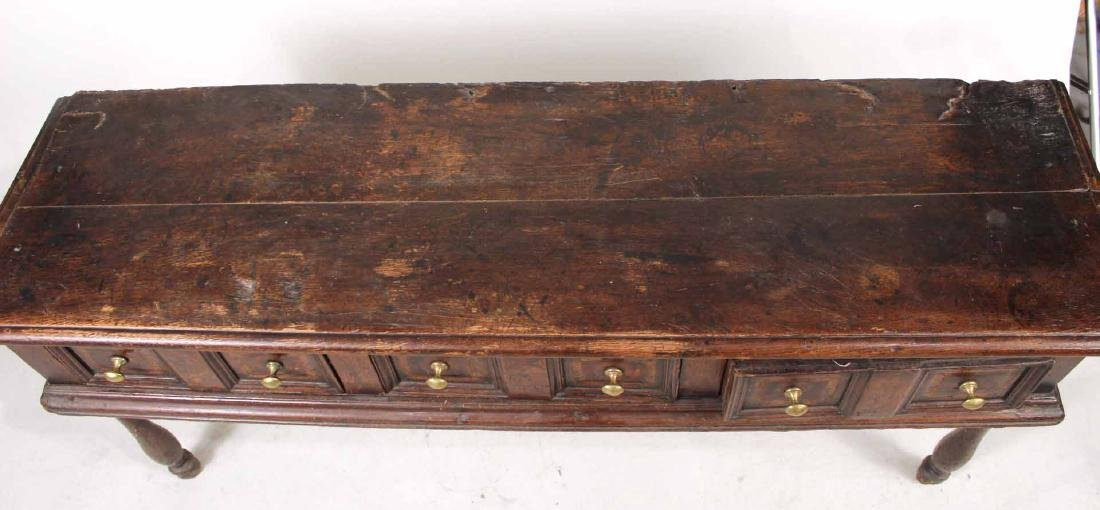 Jacobean Oak Dresser Base - 5