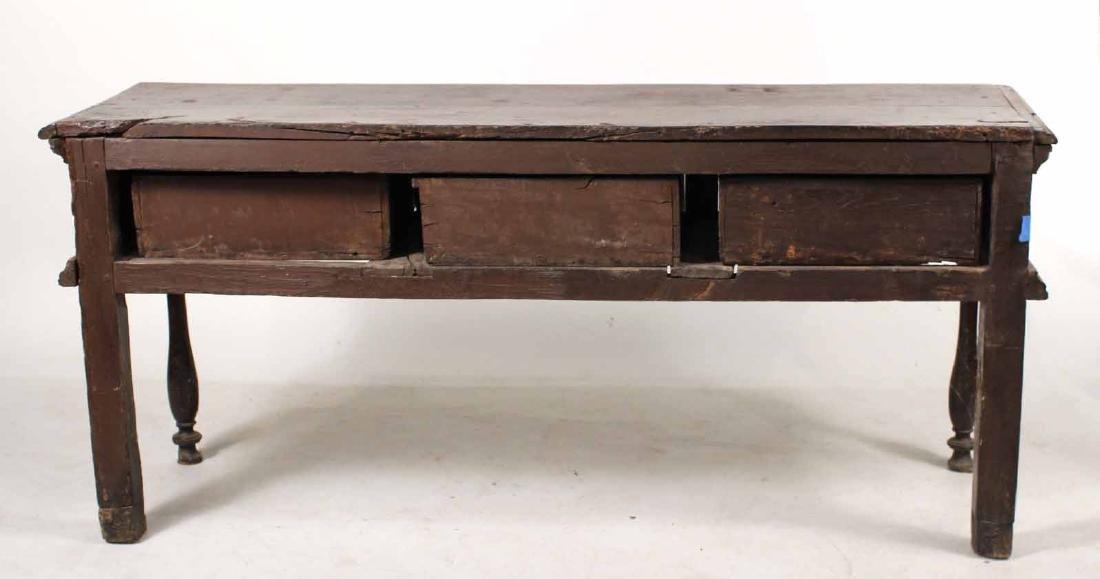 Jacobean Oak Dresser Base - 8