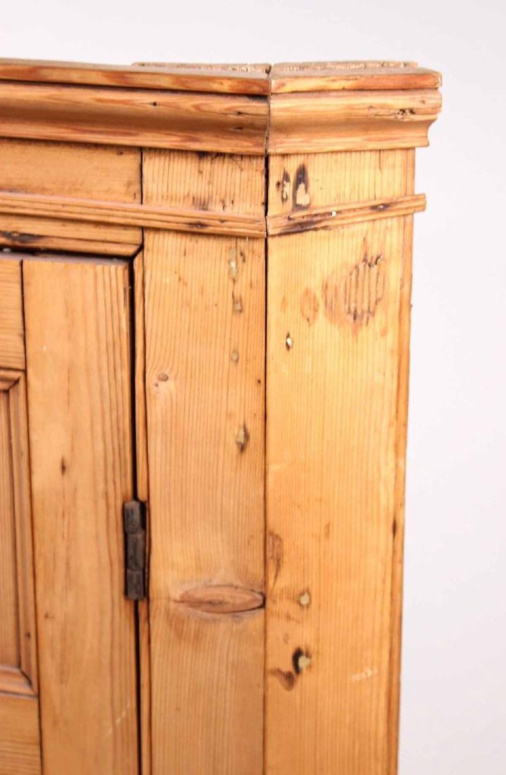 Pine Hanging Corner Cupboard - 3