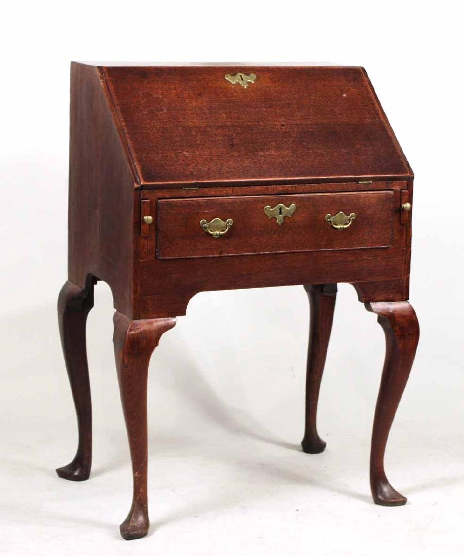 George I Oak Slant-Front Desk