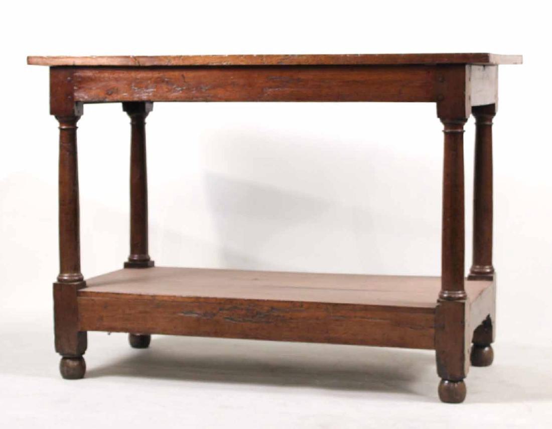 Baroque Oak Center Table