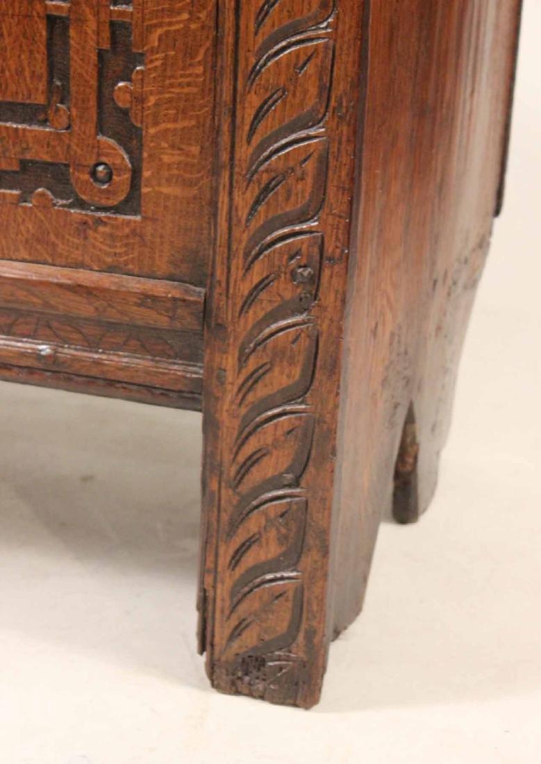 Jacobean Carved Oak Blanket Chest - 2