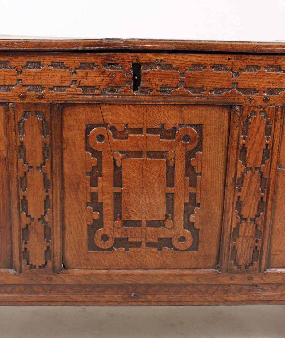 Jacobean Carved Oak Blanket Chest - 4