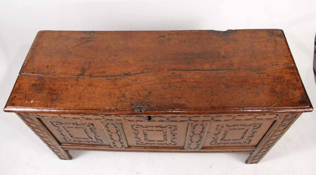 Jacobean Carved Oak Blanket Chest - 5