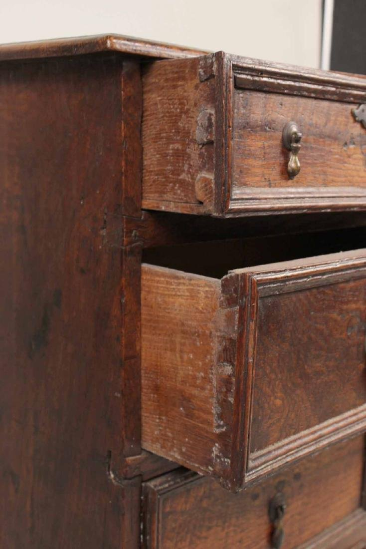 William and Mary Oak Chest of Drawers - 4