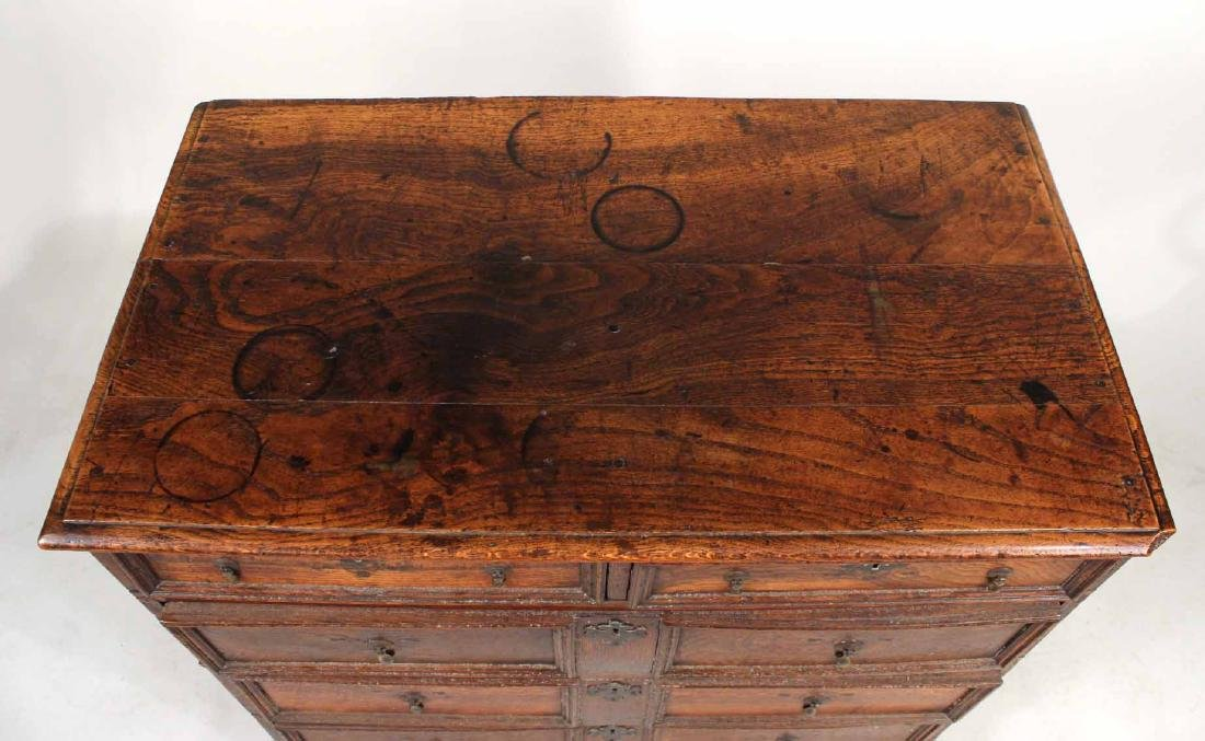 William and Mary Oak Chest of Drawers - 5