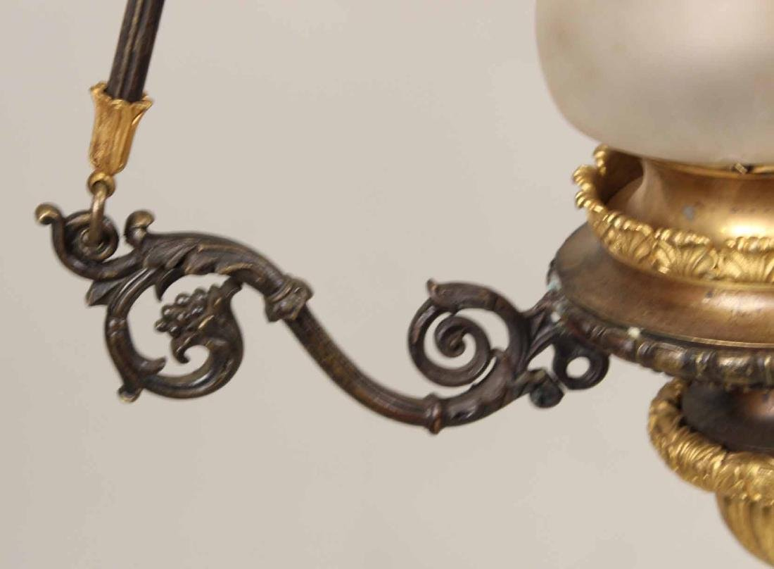 Regency Style Patinated Metal Chandelier - 5