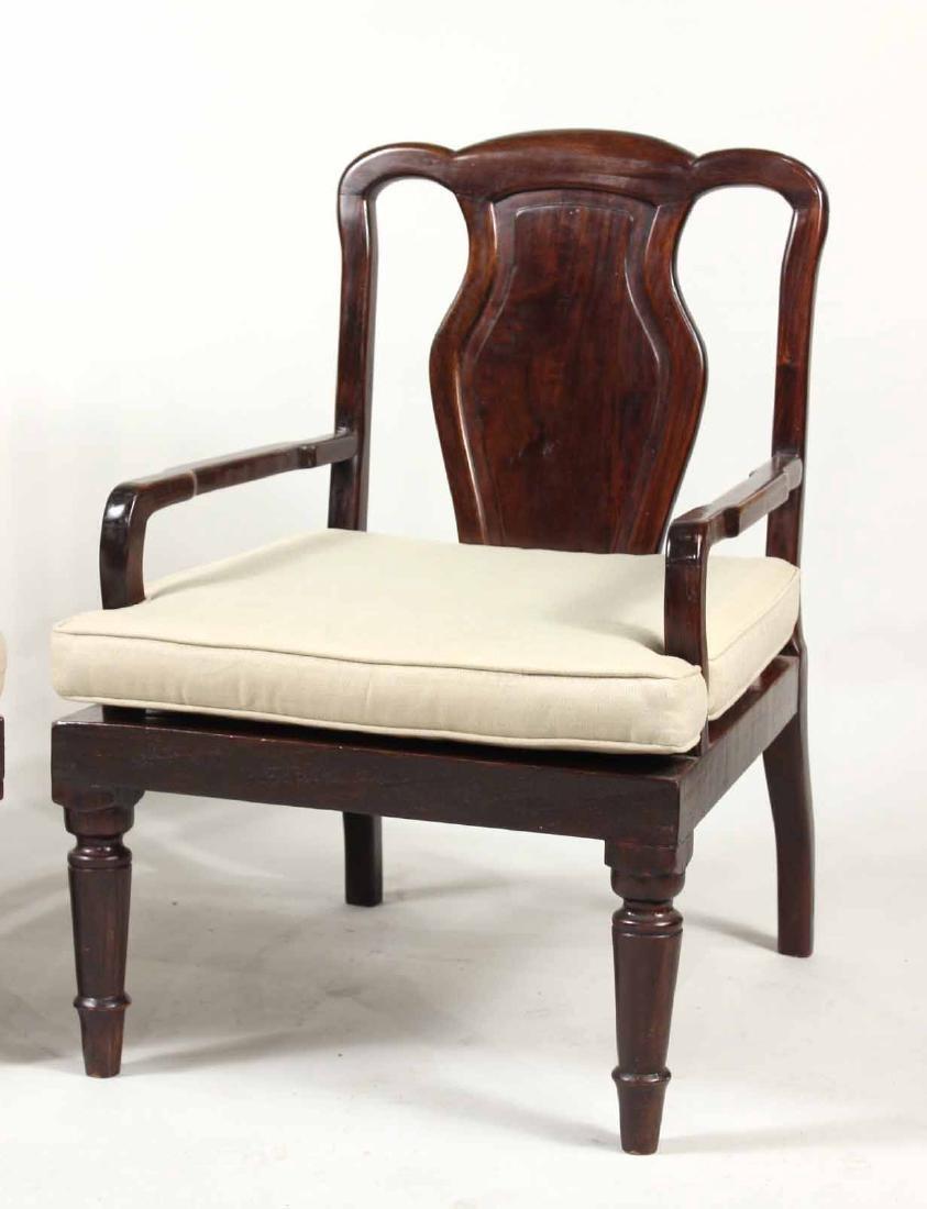 Pair of Chinese Hardwood Armchairs - 2