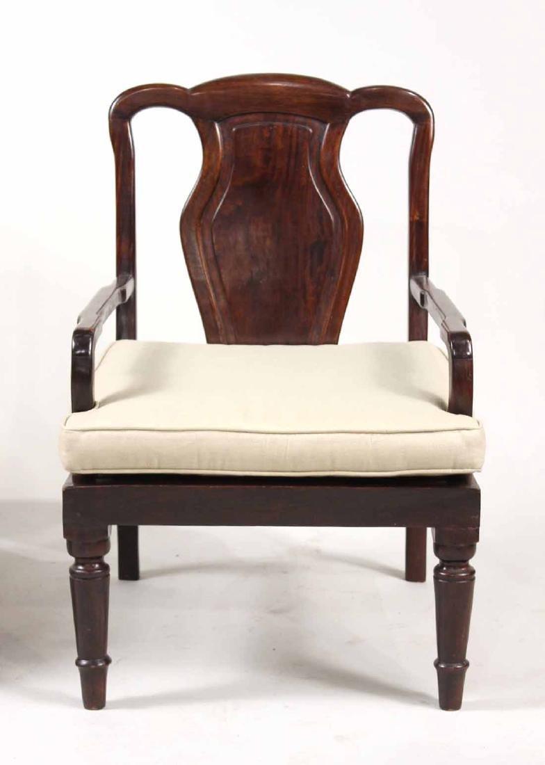 Pair of Chinese Hardwood Armchairs - 3