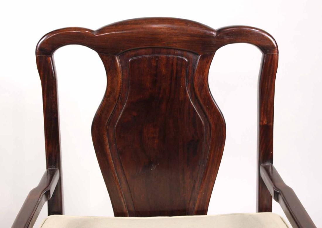 Pair of Chinese Hardwood Armchairs - 4