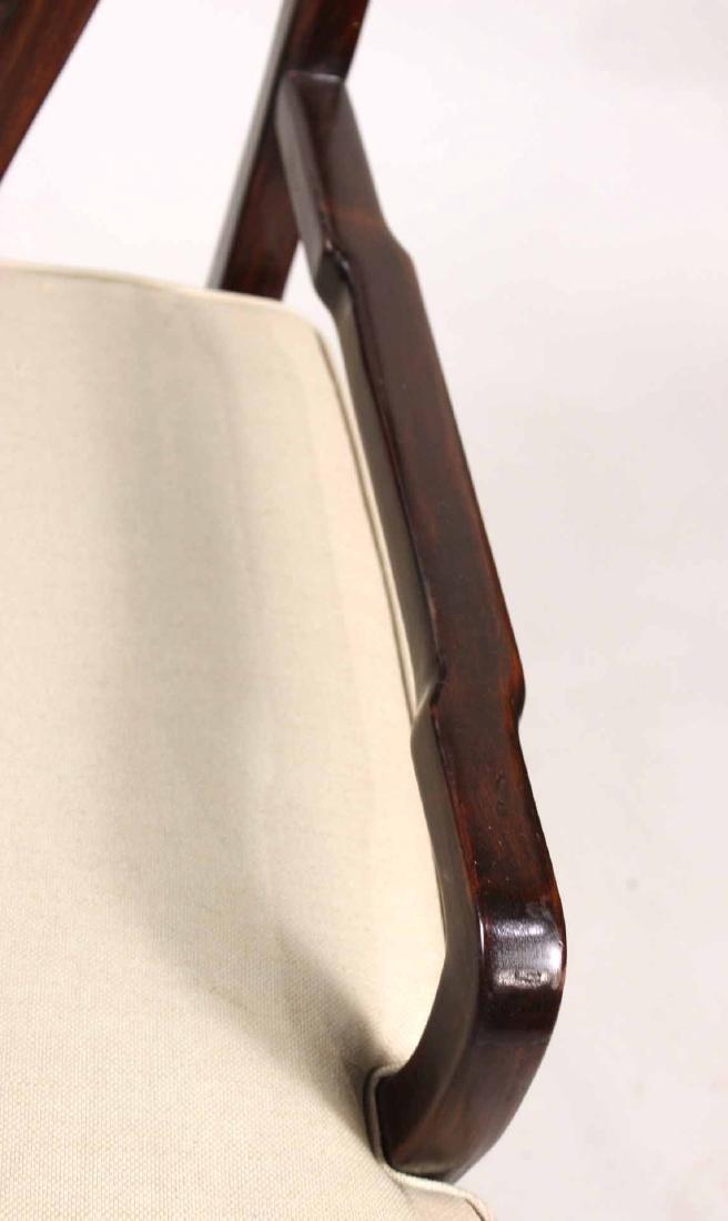 Pair of Chinese Hardwood Armchairs - 5