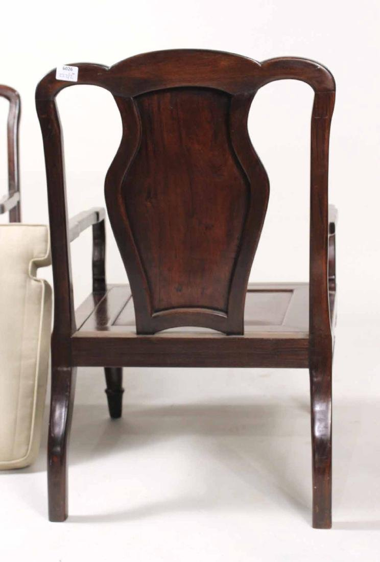 Pair of Chinese Hardwood Armchairs - 8