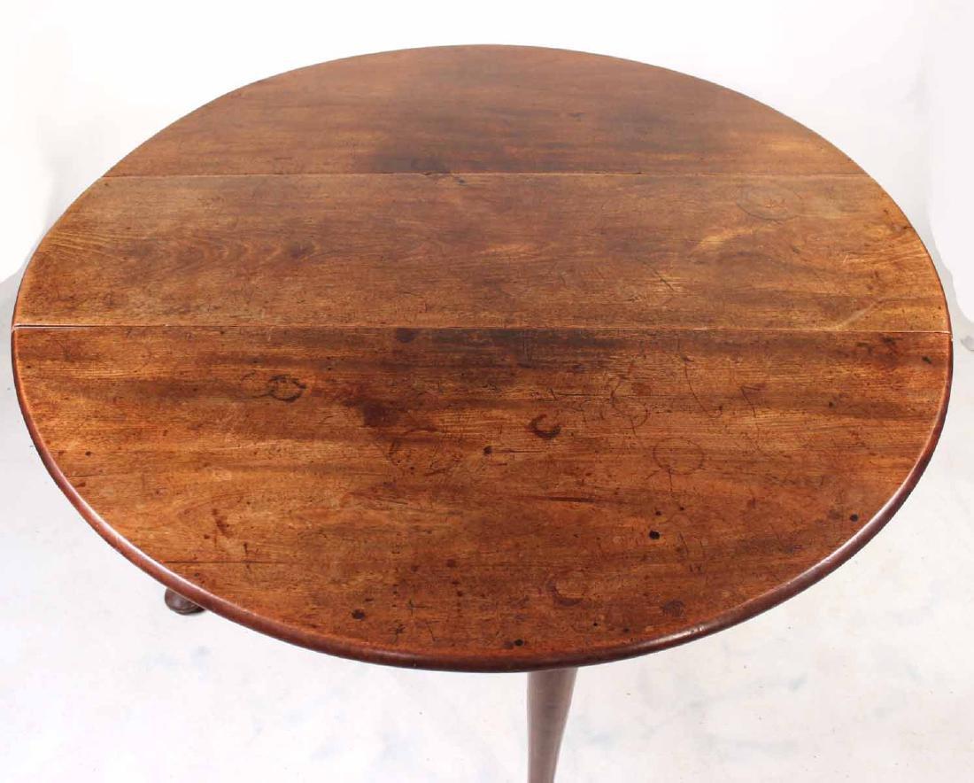 George I Walnut Drop-Leaf Dining Table - 4