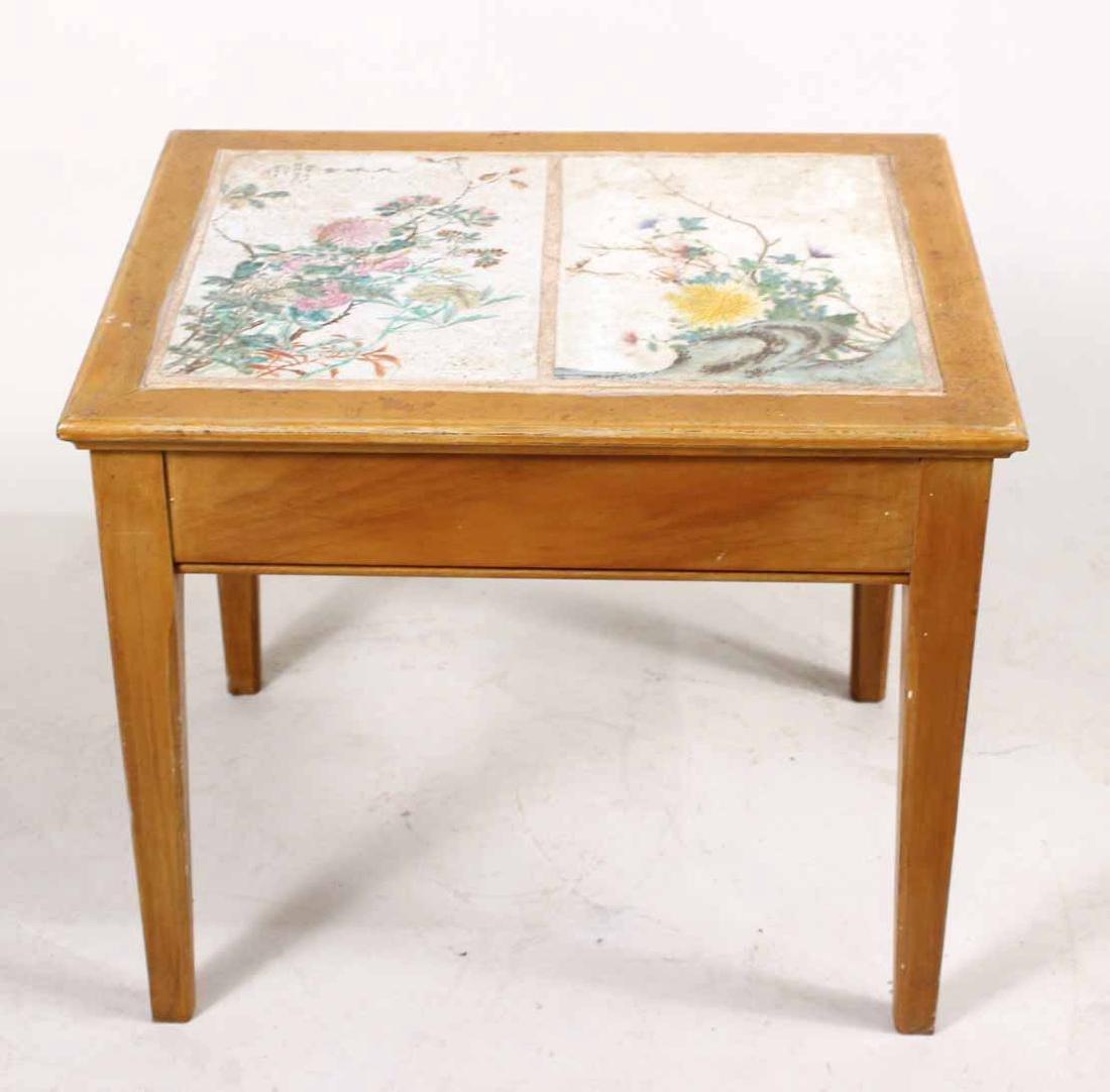 Porcelain Tile Inset Maple Table - 3