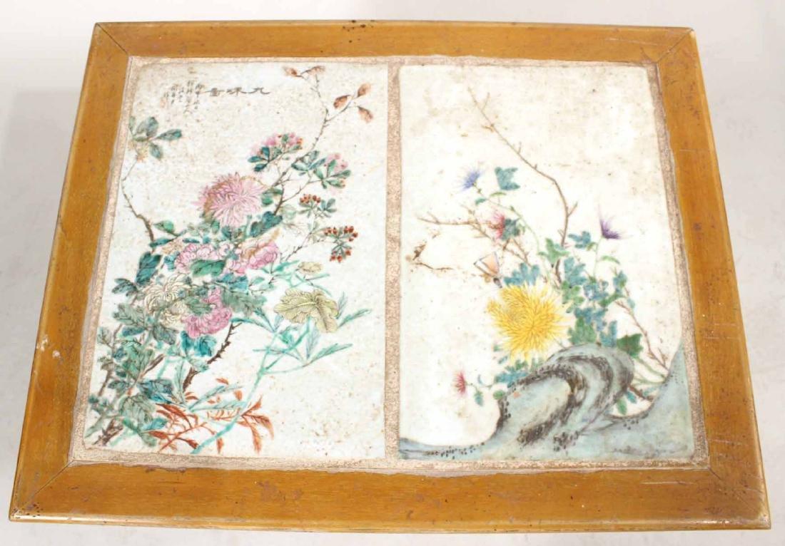 Porcelain Tile Inset Maple Table - 4
