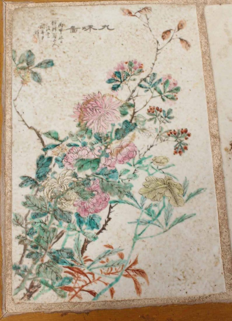 Porcelain Tile Inset Maple Table - 6