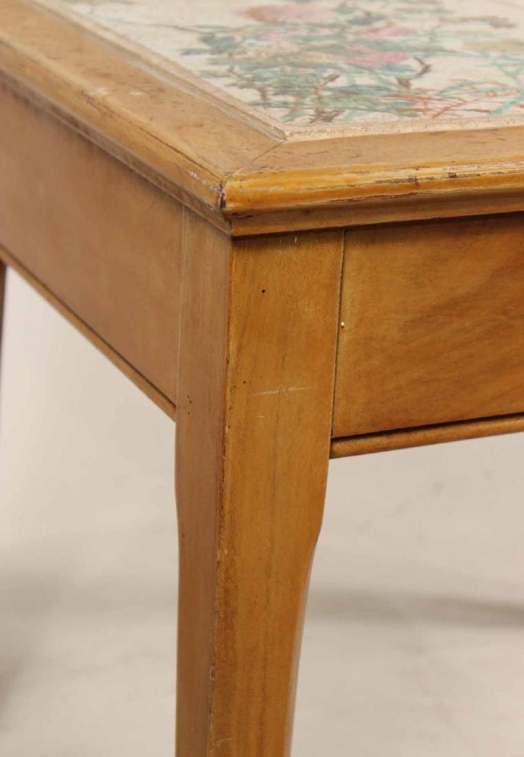 Porcelain Tile Inset Maple Table - 8