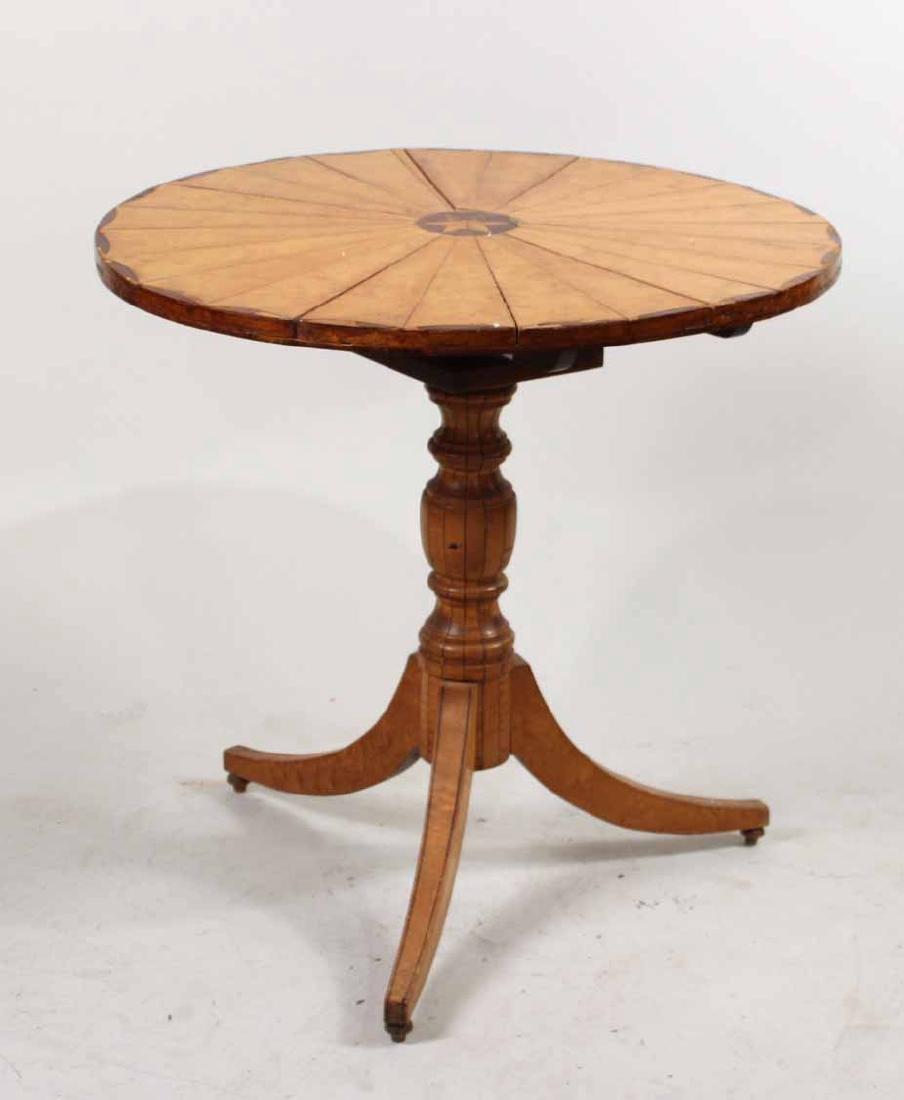 George III Satinwood and Mahogany Tea Table