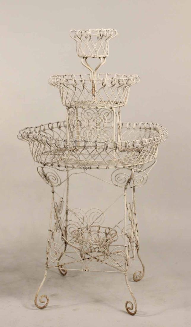 Pair of Victorian Style Wire-Work Plant Stands - 2