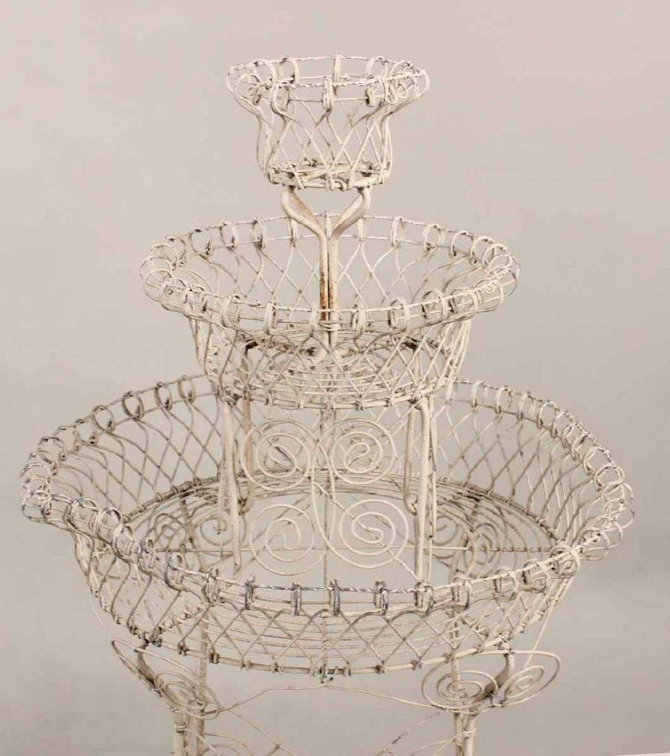Pair of Victorian Style Wire-Work Plant Stands - 3