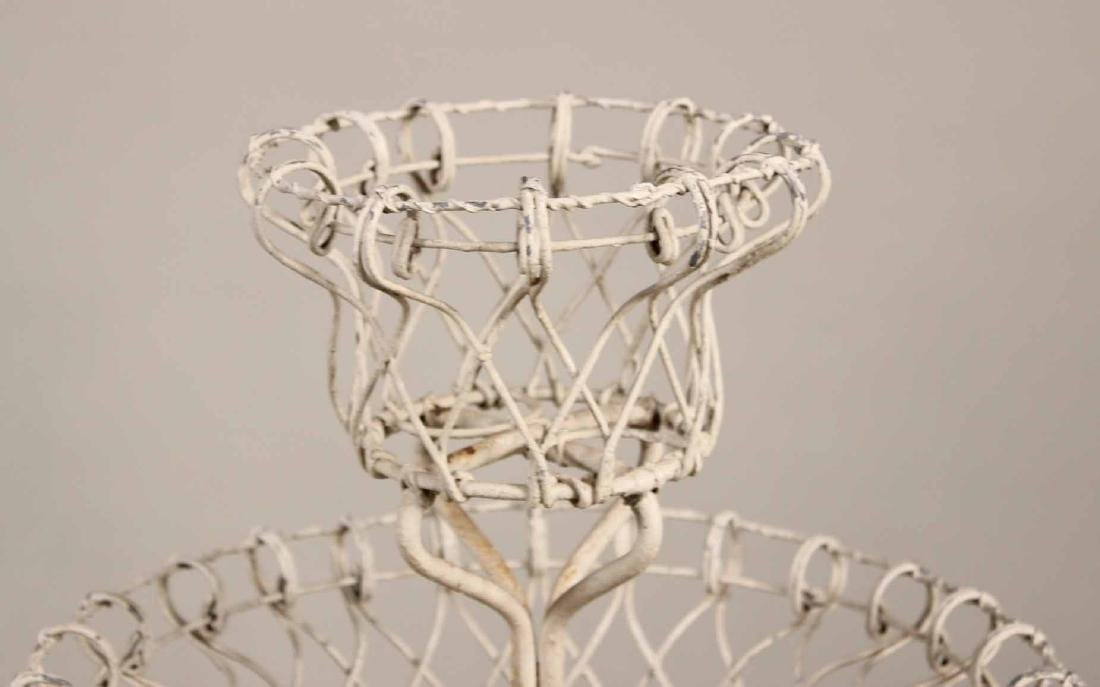 Pair of Victorian Style Wire-Work Plant Stands - 4