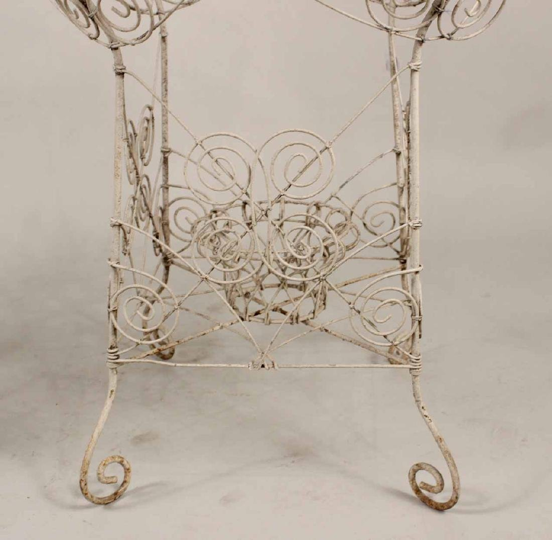 Pair of Victorian Style Wire-Work Plant Stands - 5