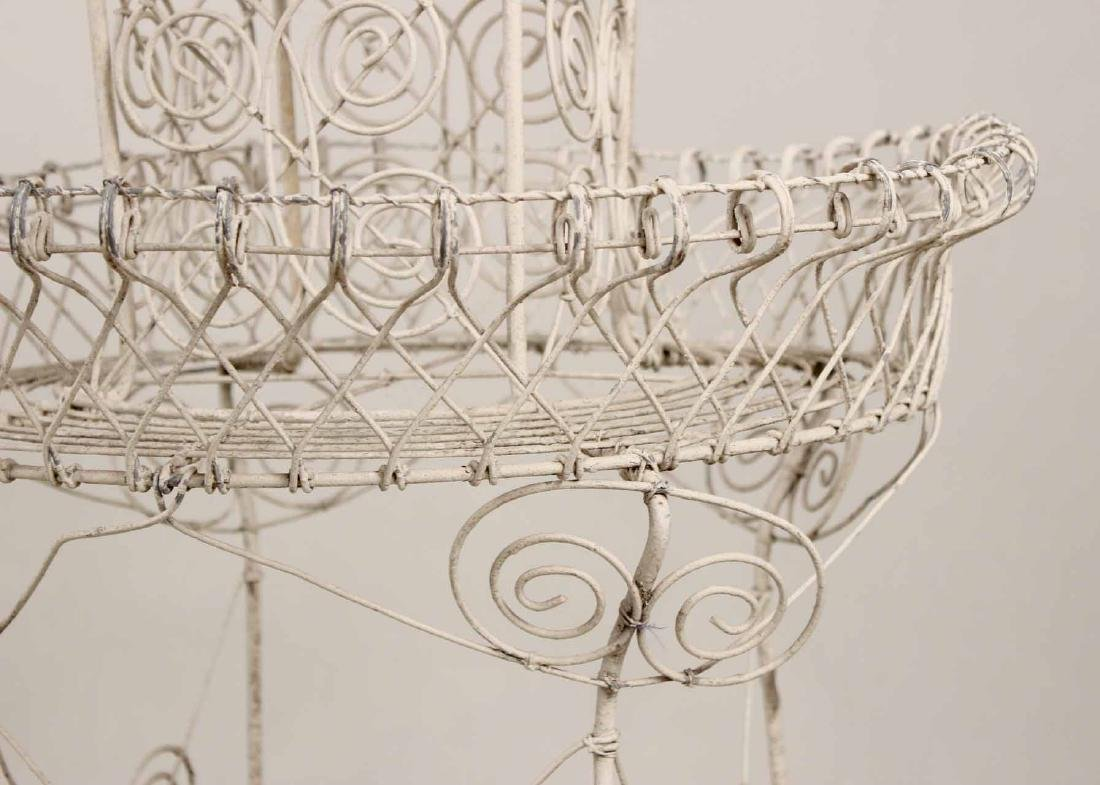 Pair of Victorian Style Wire-Work Plant Stands - 6