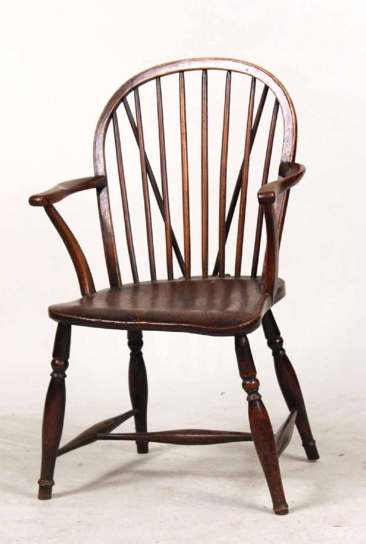 Yew Wood Windsor Child's Armchair