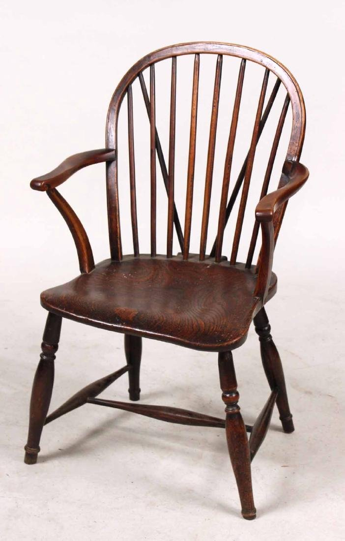Yew Wood Windsor Child's Armchair - 2