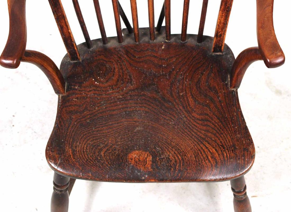 Yew Wood Windsor Child's Armchair - 3