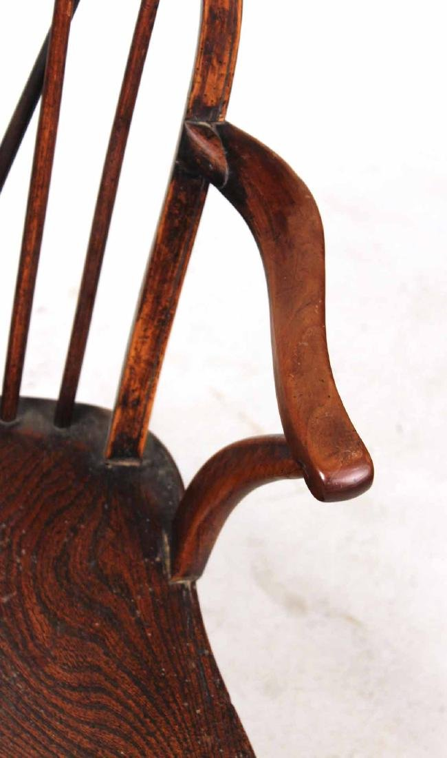 Yew Wood Windsor Child's Armchair - 4