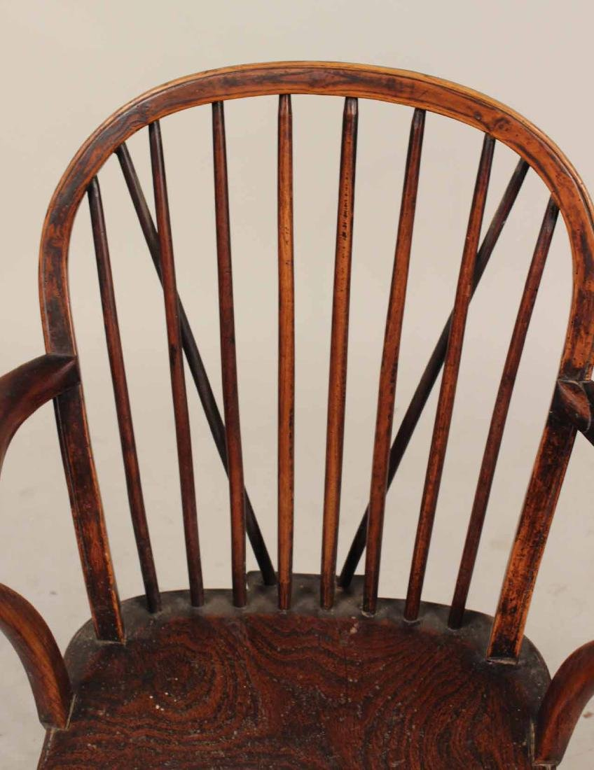 Yew Wood Windsor Child's Armchair - 5