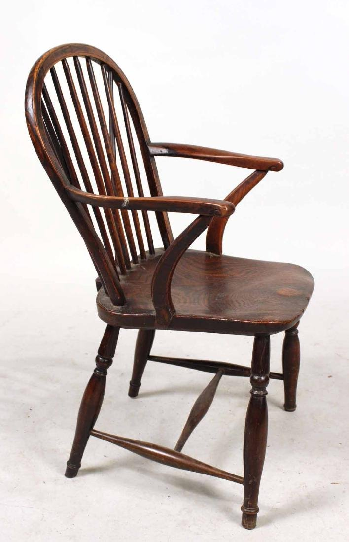 Yew Wood Windsor Child's Armchair - 8