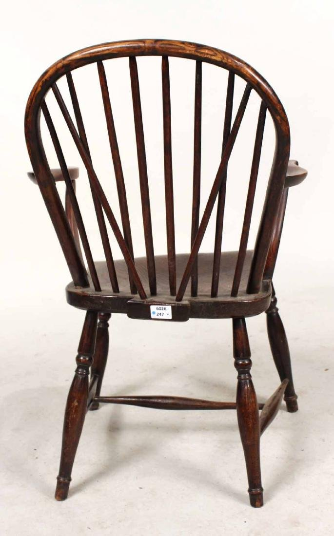 Yew Wood Windsor Child's Armchair - 9