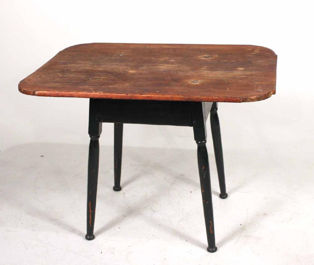 Green-Painted Pine Tavern Table