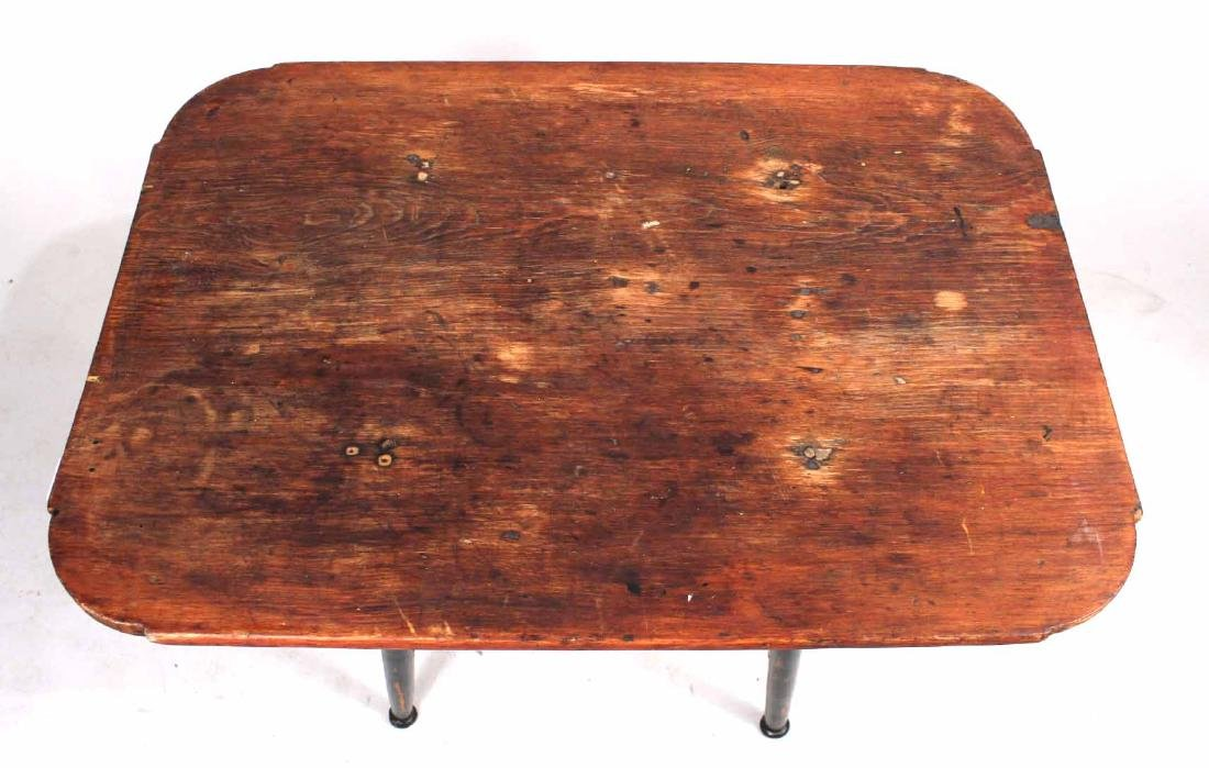 Green-Painted Pine Tavern Table - 2